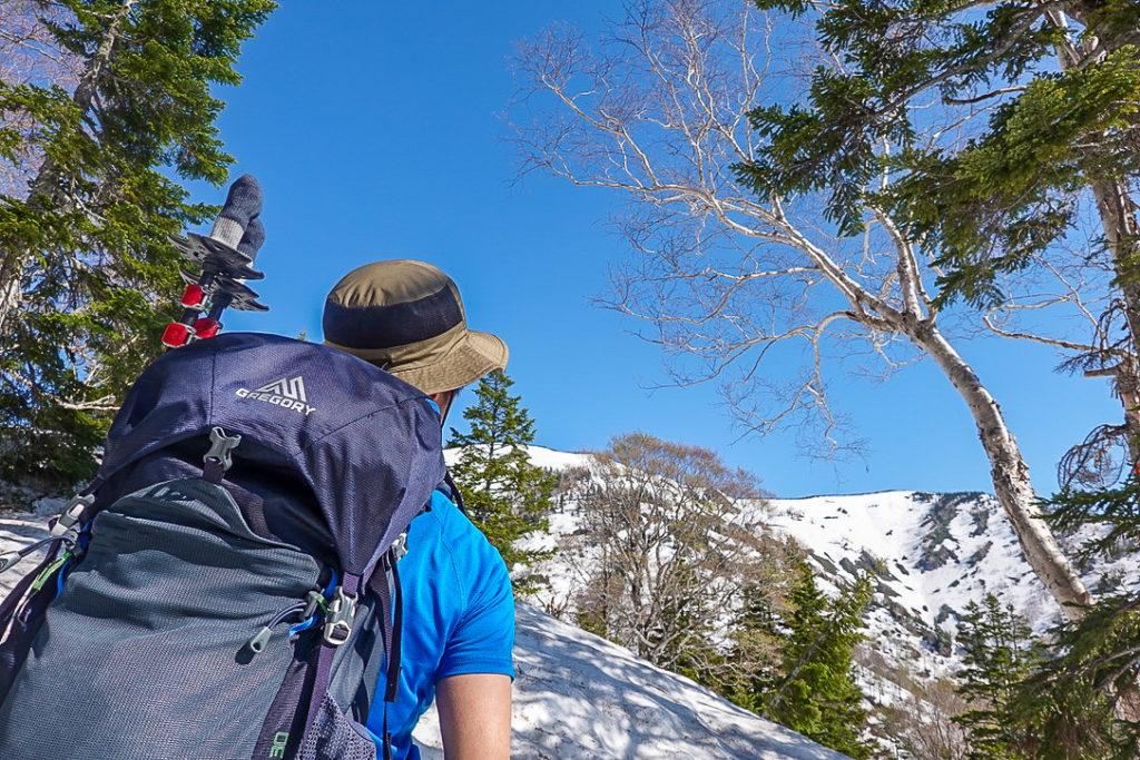 残雪期・会津駒ヶ岳・稜線が見えた!