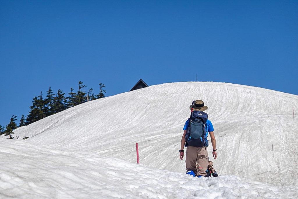 残雪期・会津駒ヶ岳・池ノ平