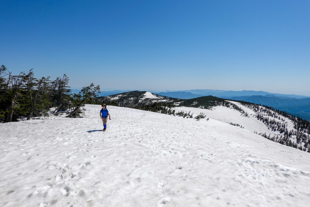 残雪期・会津駒ヶ岳・大戸沢岳へと至る稜線