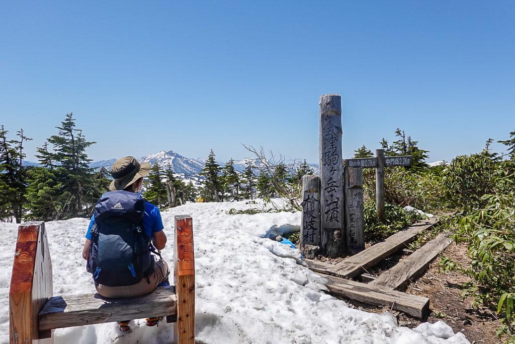 残雪期・会津駒ヶ岳・再びの会津駒ヶ岳山頂