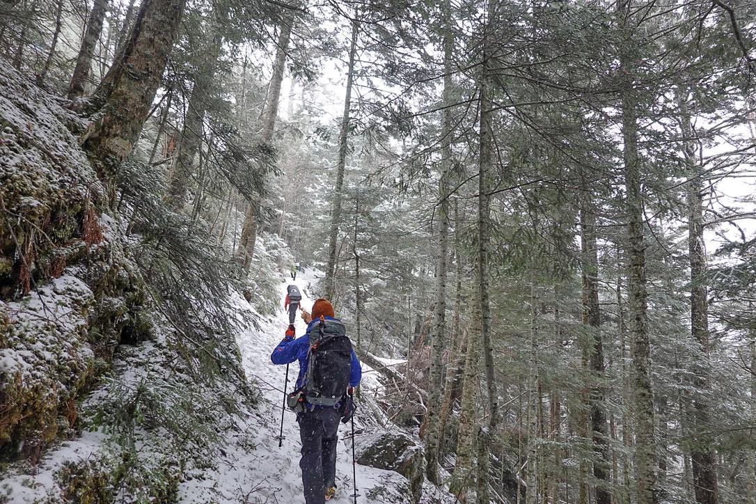 残雪期・甲斐駒ヶ岳・太平山荘からショートカット!