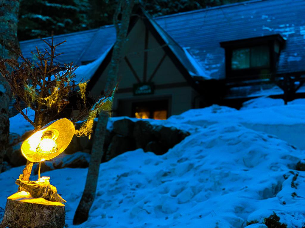 残雪期・甲斐駒ヶ岳・北沢峠・こもれび山荘