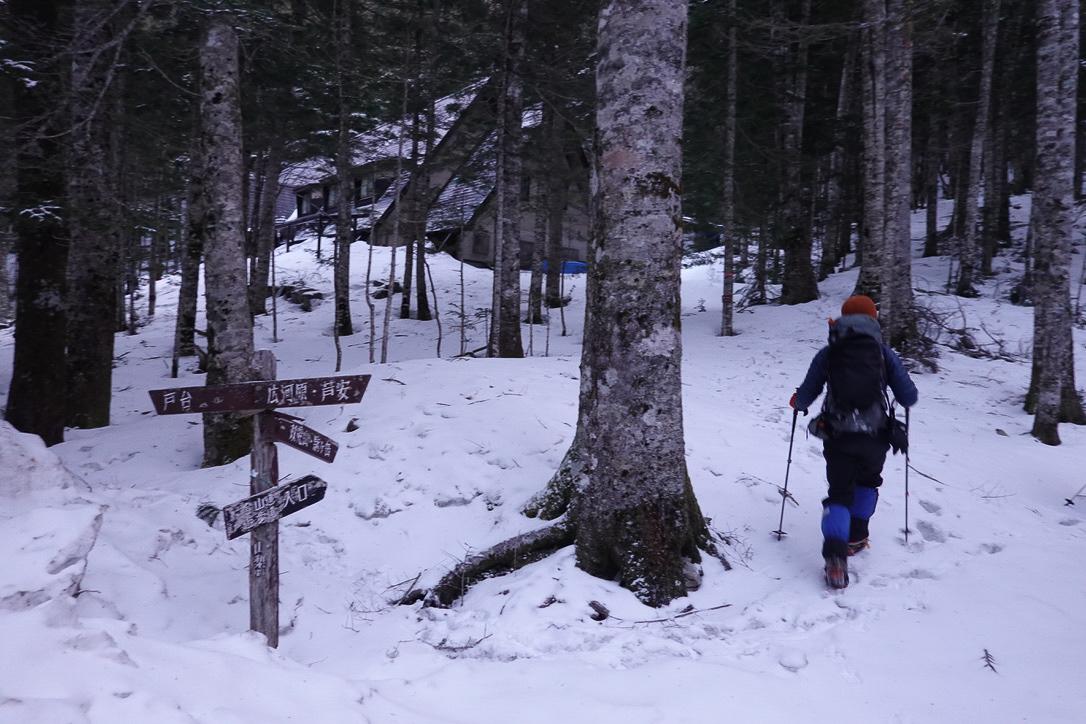 残雪期・甲斐駒ヶ岳・北沢峠・甲斐駒ヶ岳登山口