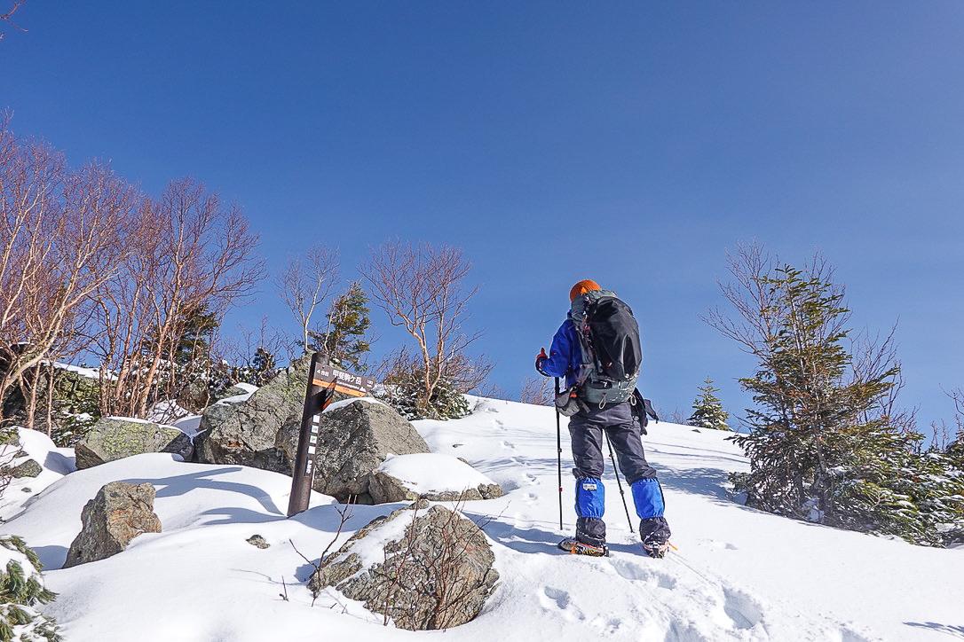 残雪期・甲斐駒ヶ岳・双児山山頂(甲斐駒ヶ岳4合目)