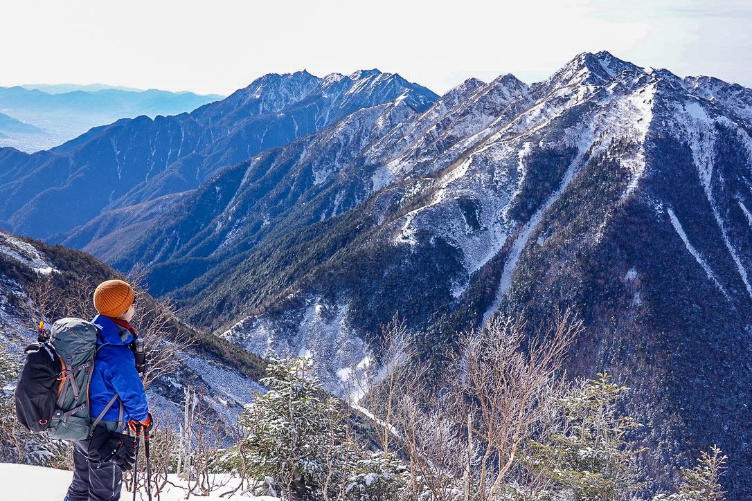 残雪期・甲斐駒ヶ岳・双児山からの鳳凰三山