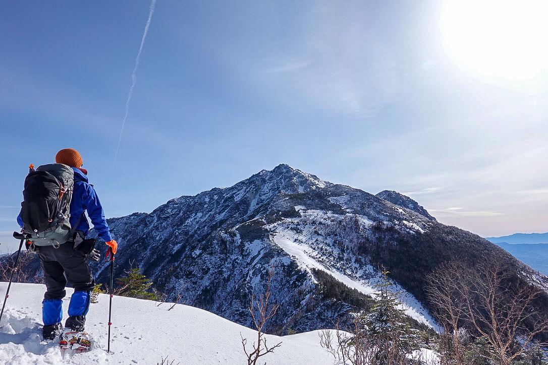 残雪期・甲斐駒ヶ岳・双児山からの甲斐駒ヶ岳