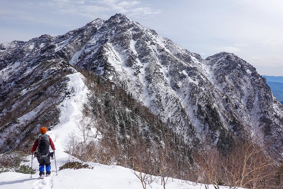 残雪期・甲斐駒ヶ岳・駒津峰からの甲斐駒ヶ岳、摩利支天