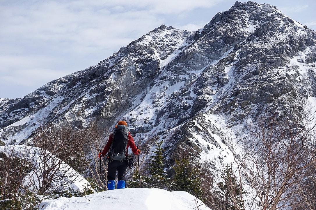 残雪期・甲斐駒ヶ岳・駒津峰から甲斐駒ヶ岳へ