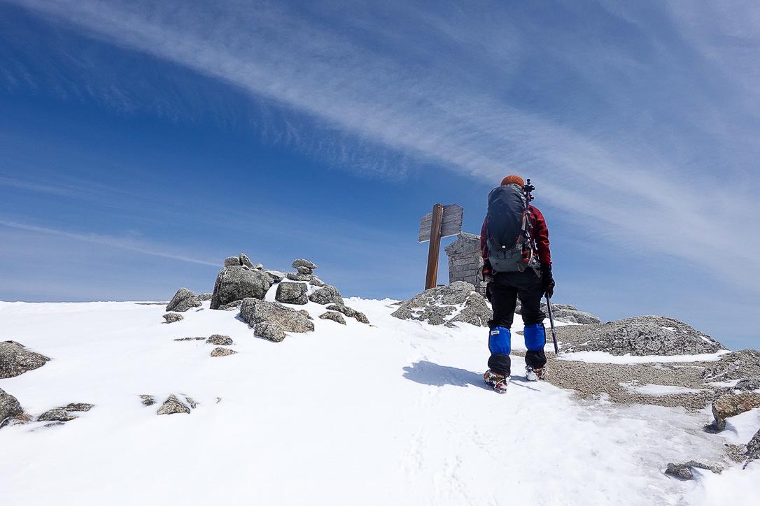 残雪期・甲斐駒ヶ岳・甲斐駒ヶ岳山頂