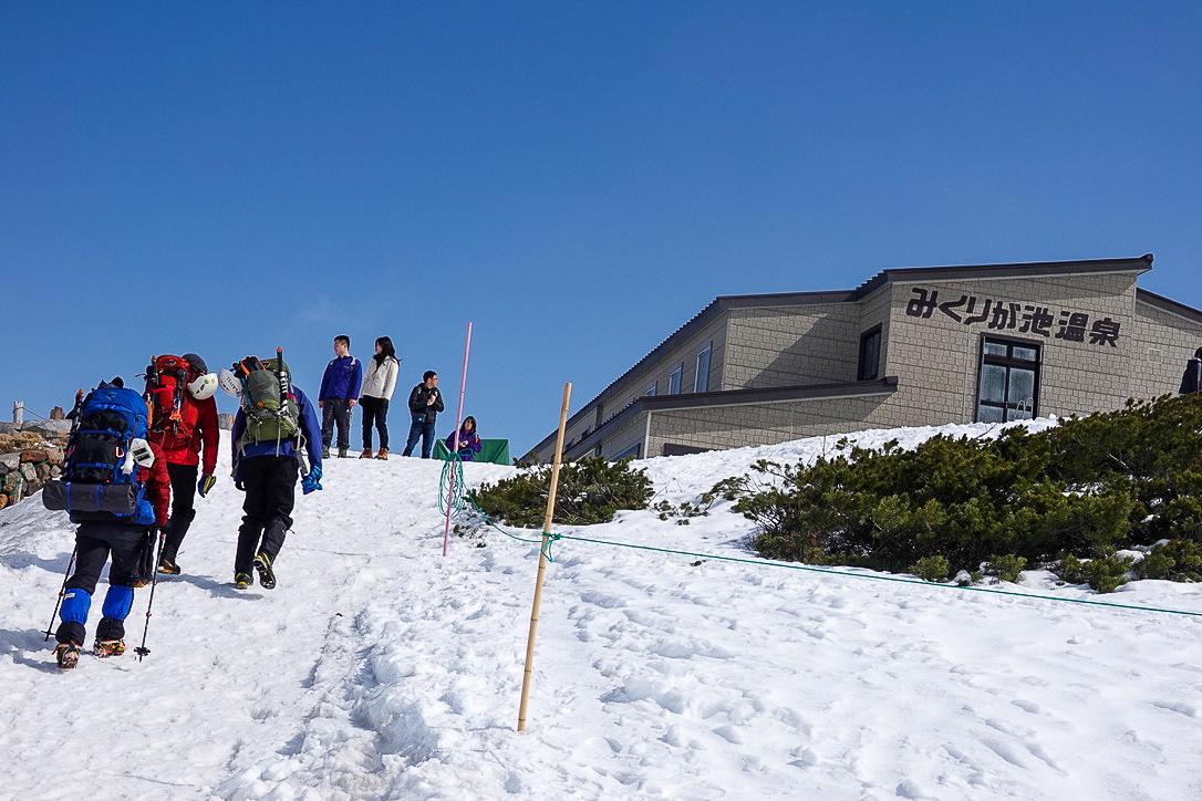 残雪期・奥大日岳・みくりが池温泉