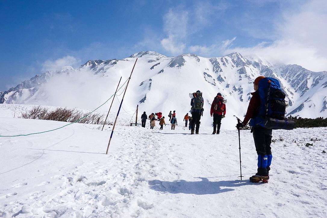 残雪期・奥大日岳・雷鳥沢へ