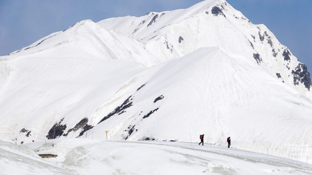残雪期・奥大日岳