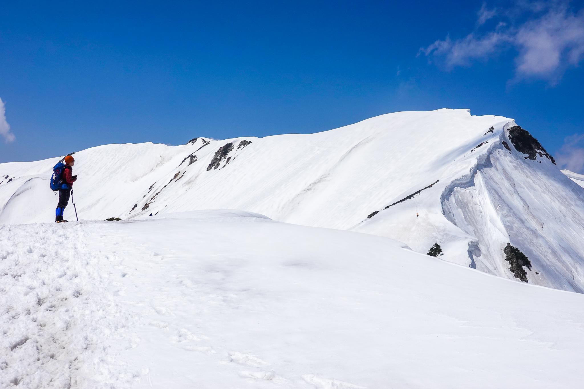 残雪期・奥大日岳・奥大日岳からの眺めはどうか!?