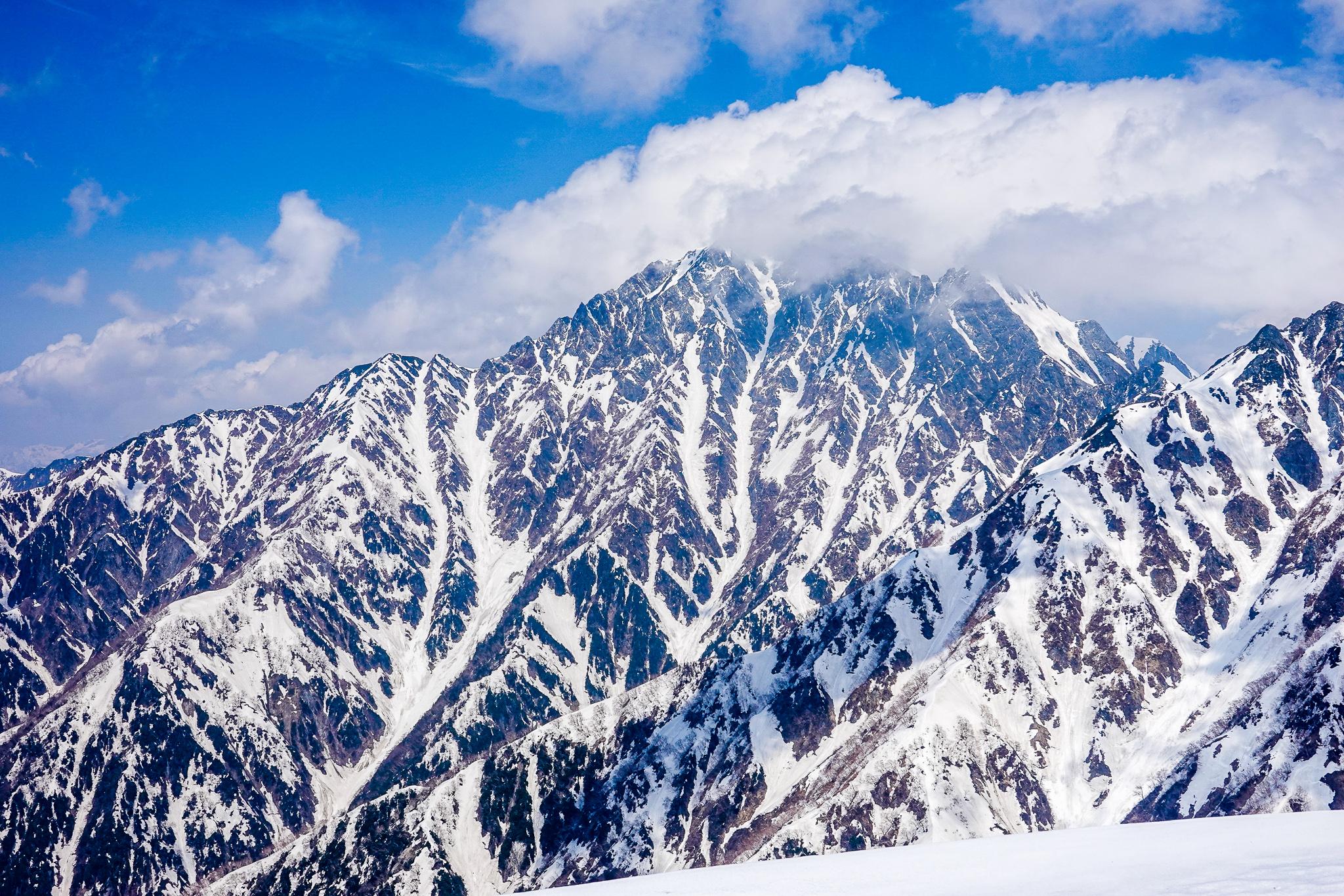 残雪期・奥大日岳・奥大日岳からの剱岳