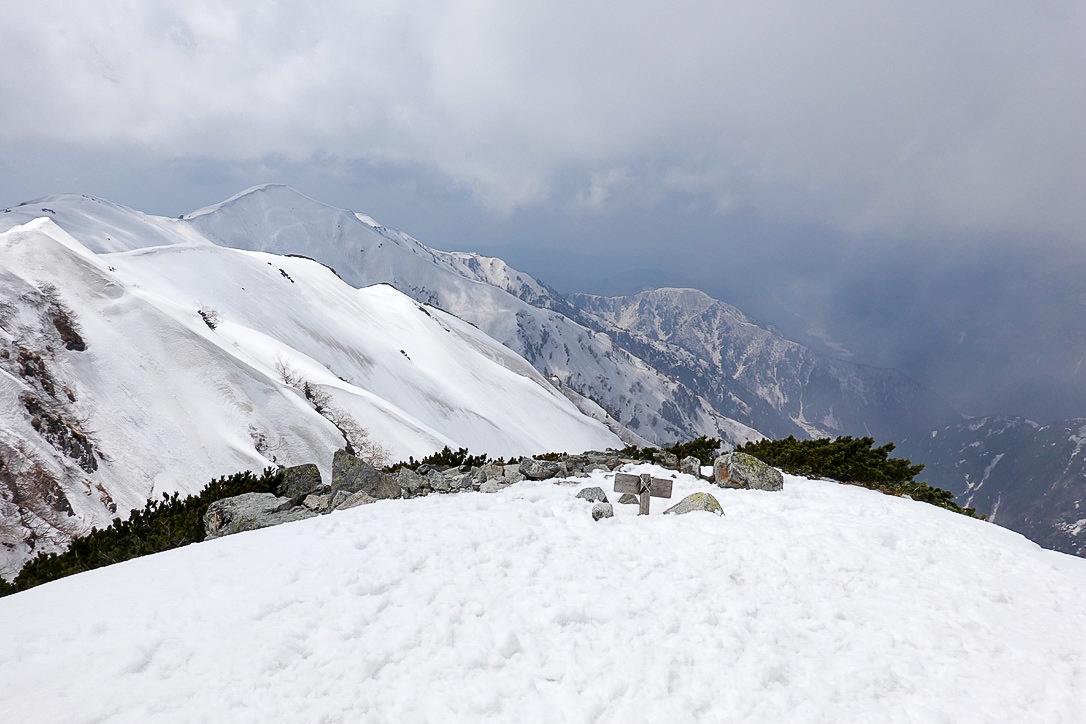 残雪期・奥大日岳・奥大日岳山頂