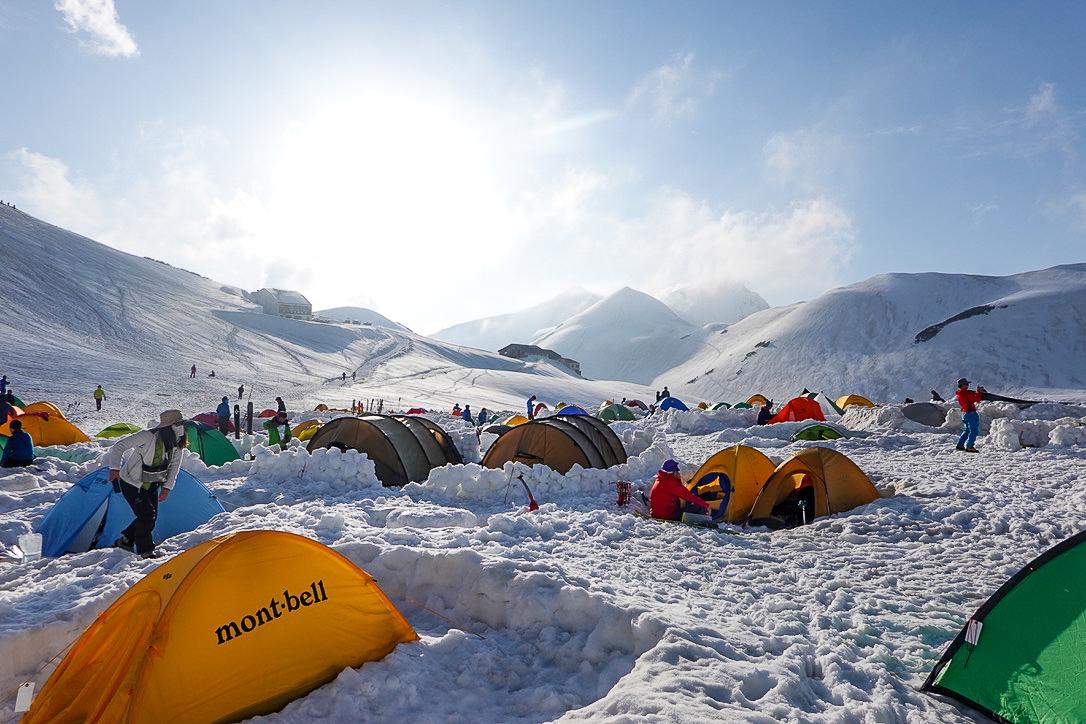 残雪期・奥大日岳・雷鳥沢キャンプ場からの奥大日岳