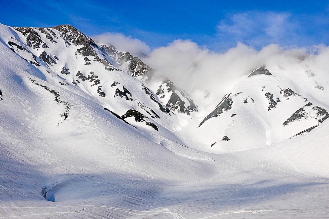 残雪期・奥大日岳・大走り、真砂岳