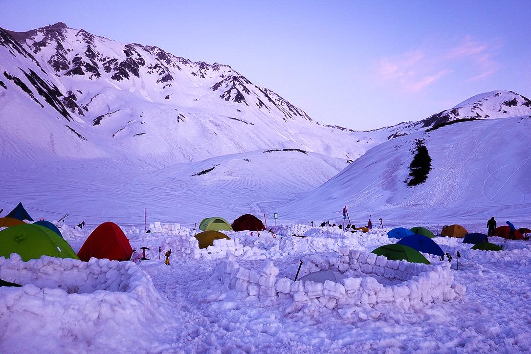 残雪期・奥大日岳・アーベントロート立山