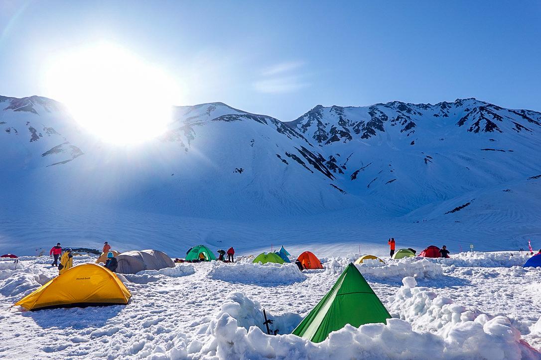 残雪期・立山(雄山)・雷鳥沢キャンプ場