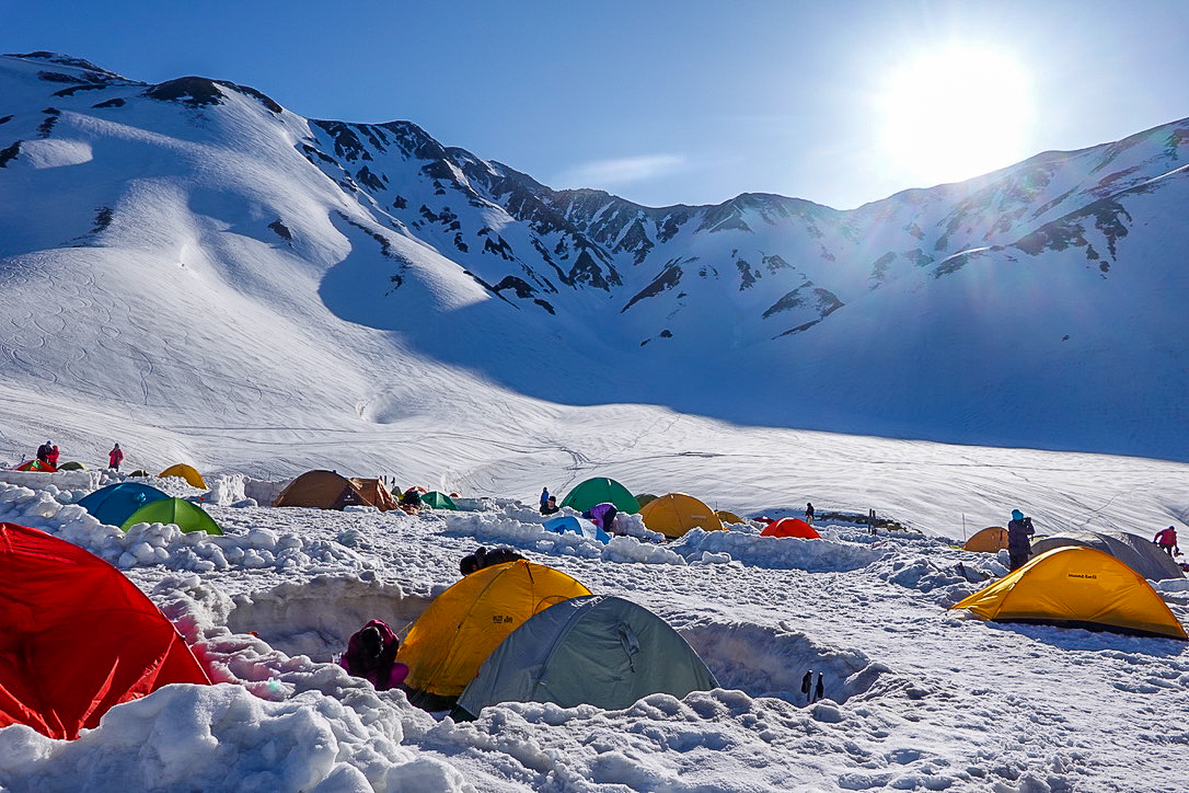 残雪期・立山(雄山)・雷鳥沢キャンプ場その2