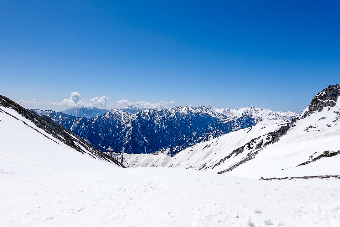 残雪期・立山(雄山)・一ノ越からの北アルプスの山々