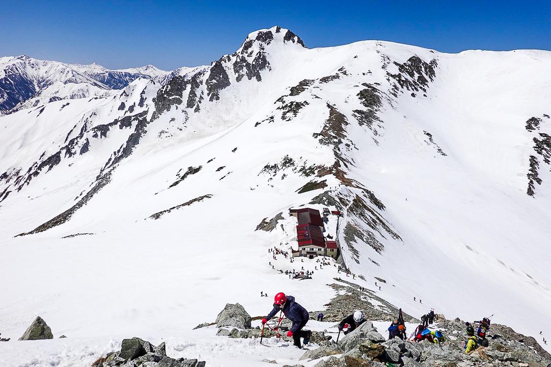 残雪期・立山(雄山)・雄山から浄土山、龍王岳