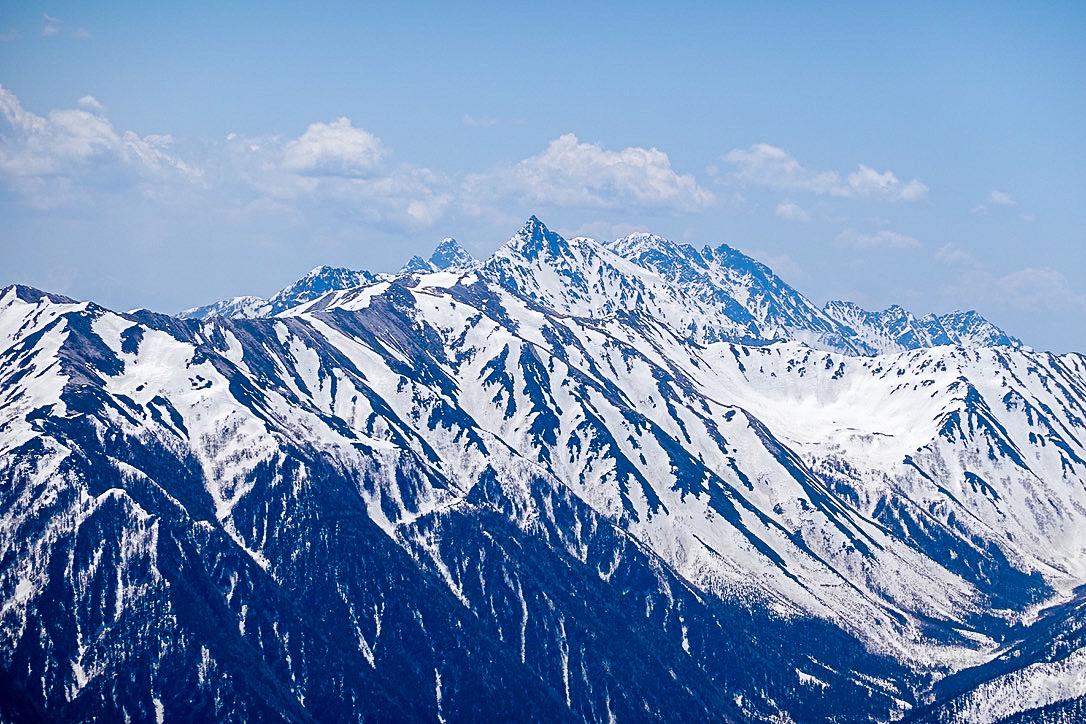 残雪期・立山(雄山)・雄山からの槍ヶ岳