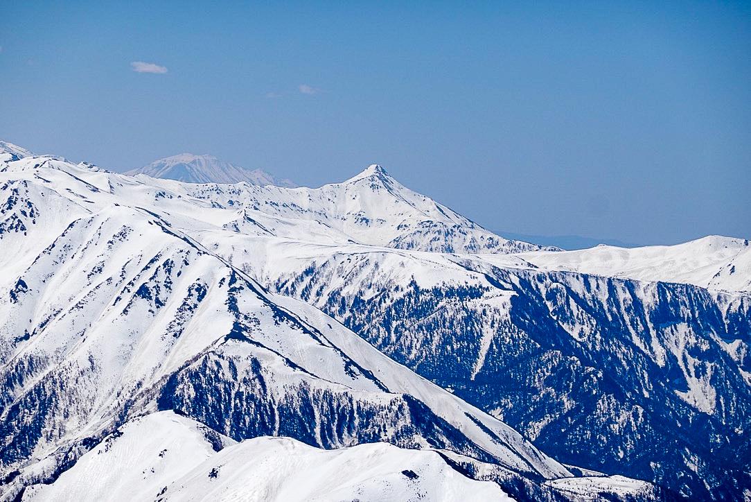 残雪期・立山(雄山)・雄山からの笠ヶ岳