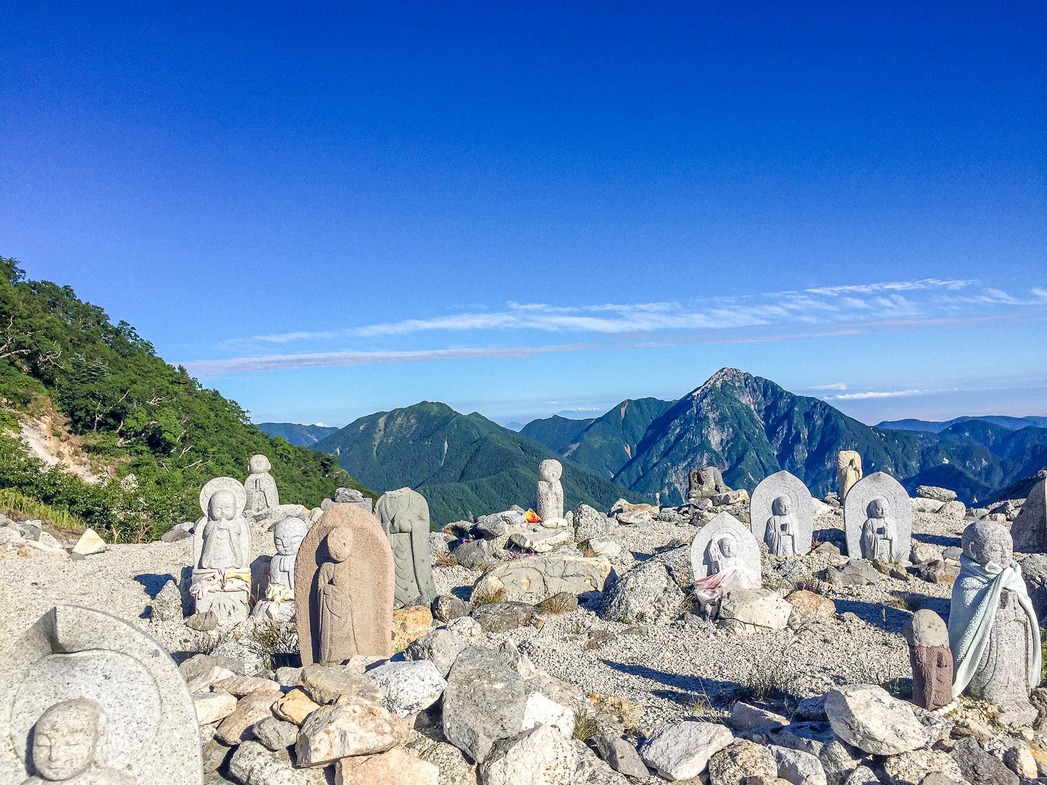 鳳凰三山・地蔵岳・賽ノ河原からの甲斐駒ヶ岳、仙丈ケ岳