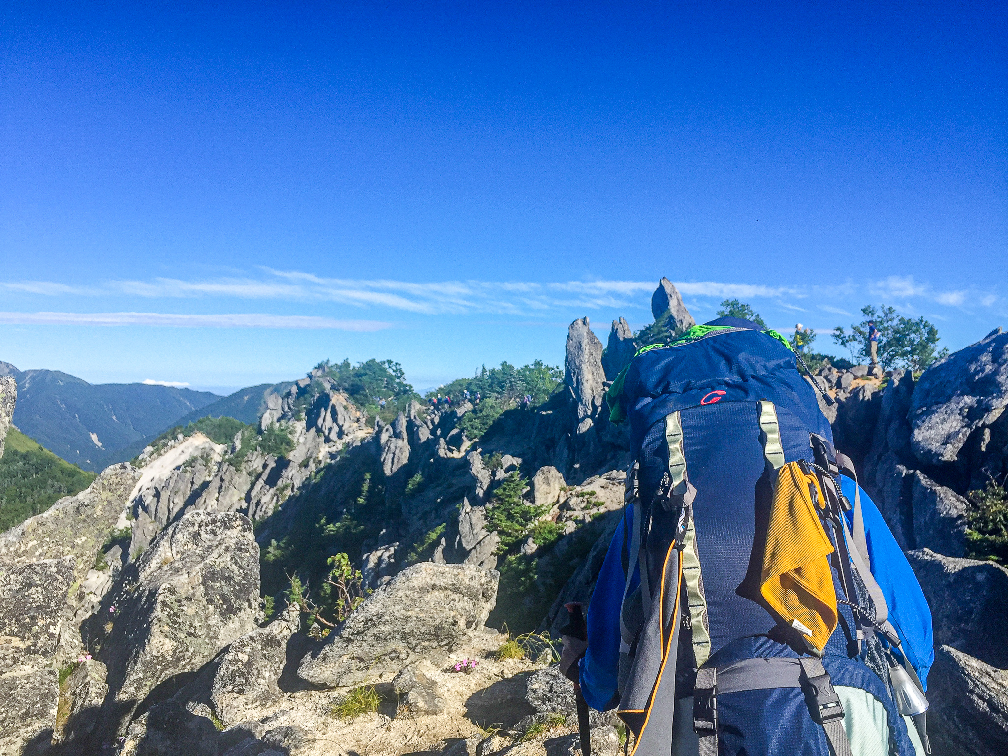鳳凰三山・地蔵岳から観音岳へ