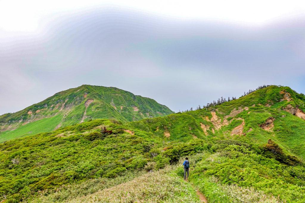 苗場山・神楽ヶ峰から苗場山は一旦かなり下ります