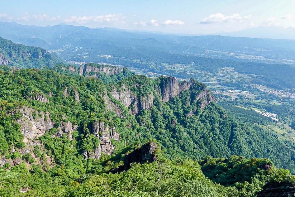 妙義山・表妙義(白雲山、相馬岳)・見晴からの展望2、妙義富士