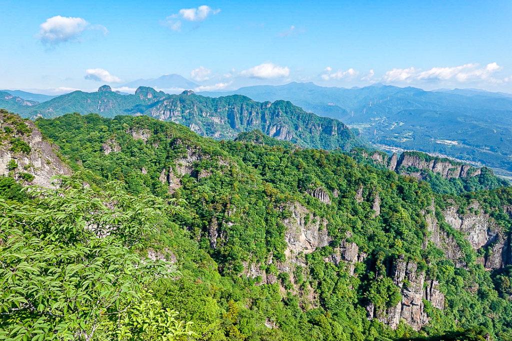 妙義山・表妙義(白雲山、相馬岳)・見晴からの展望3、裏妙義、浅間山