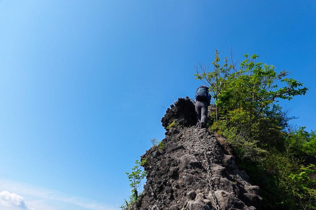 妙義山・表妙義(白雲山、相馬岳)・背ビレ岩