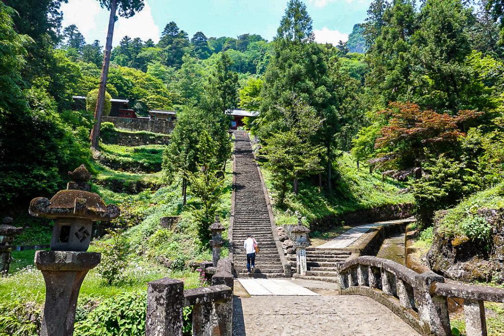 妙義山・表妙義(白雲山、相馬岳)・妙義神社の階段
