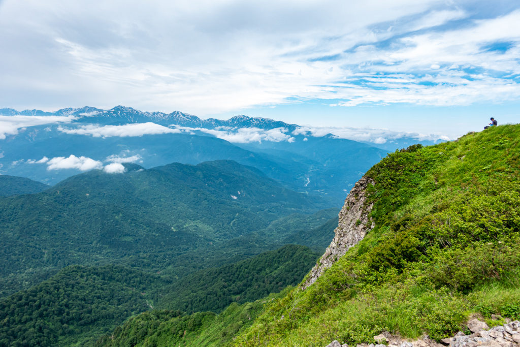 雨飾山・雨飾山山頂からの北アルプス