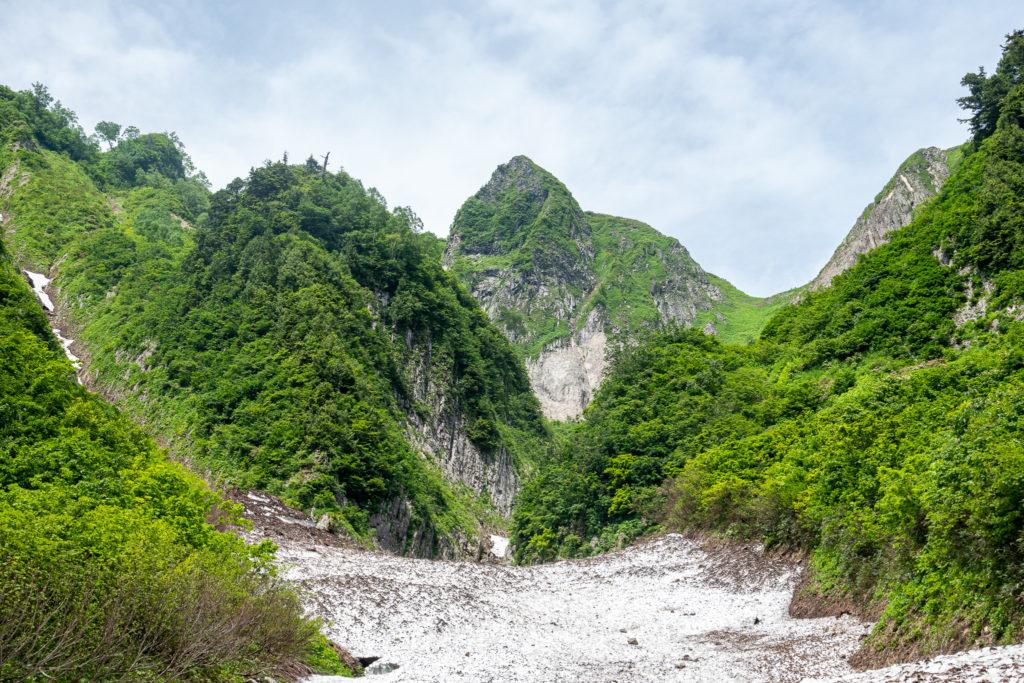 雨飾山・布団菱