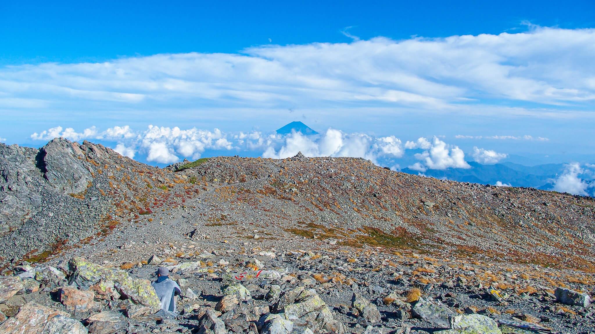 北岳・間ノ岳からの富士山