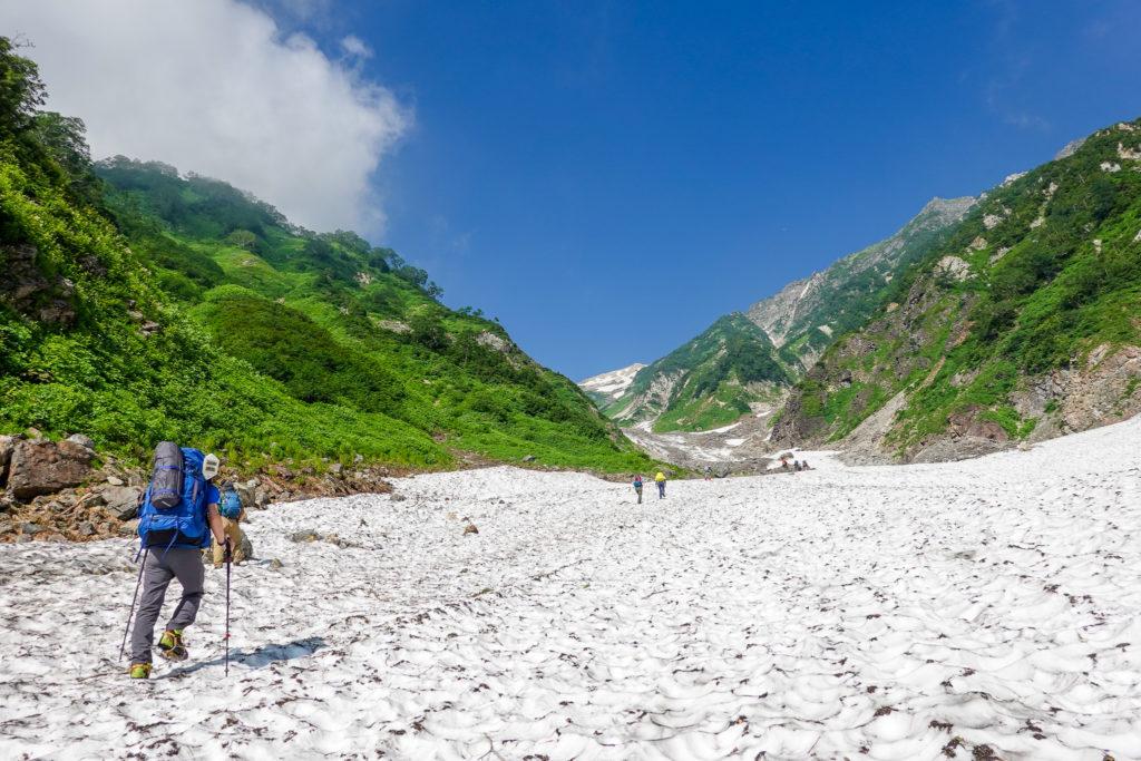 白馬岳・快晴の大雪渓