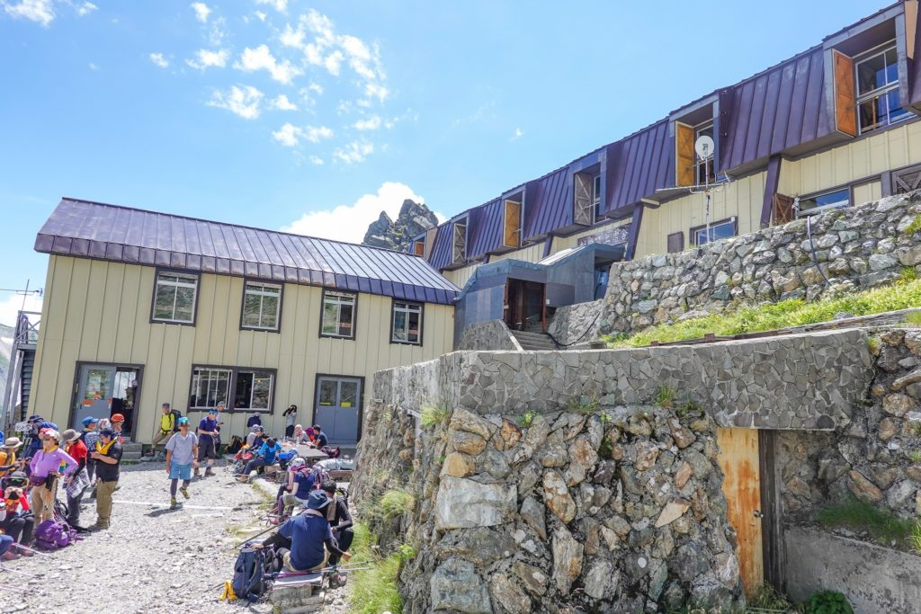 白馬岳・村営頂上宿舎でお昼ご飯