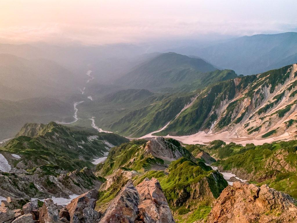 白馬岳・白馬岳山頂から大雪渓