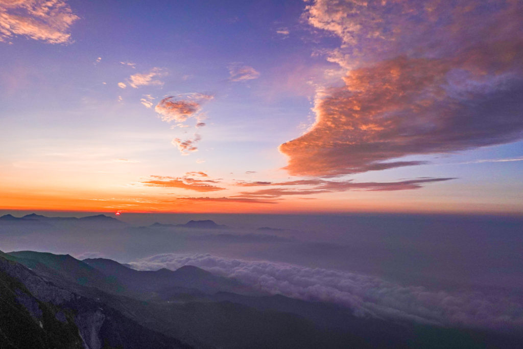 白馬岳・白馬岳山頂(日の出)