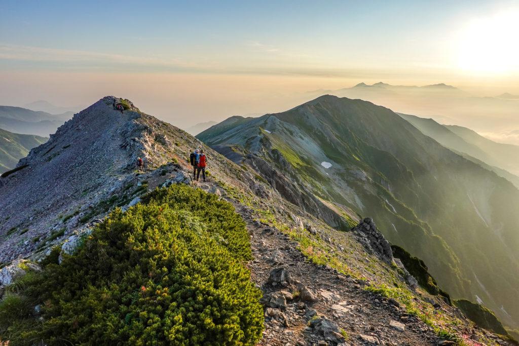 白馬岳・小蓮華山へと至る稜線2
