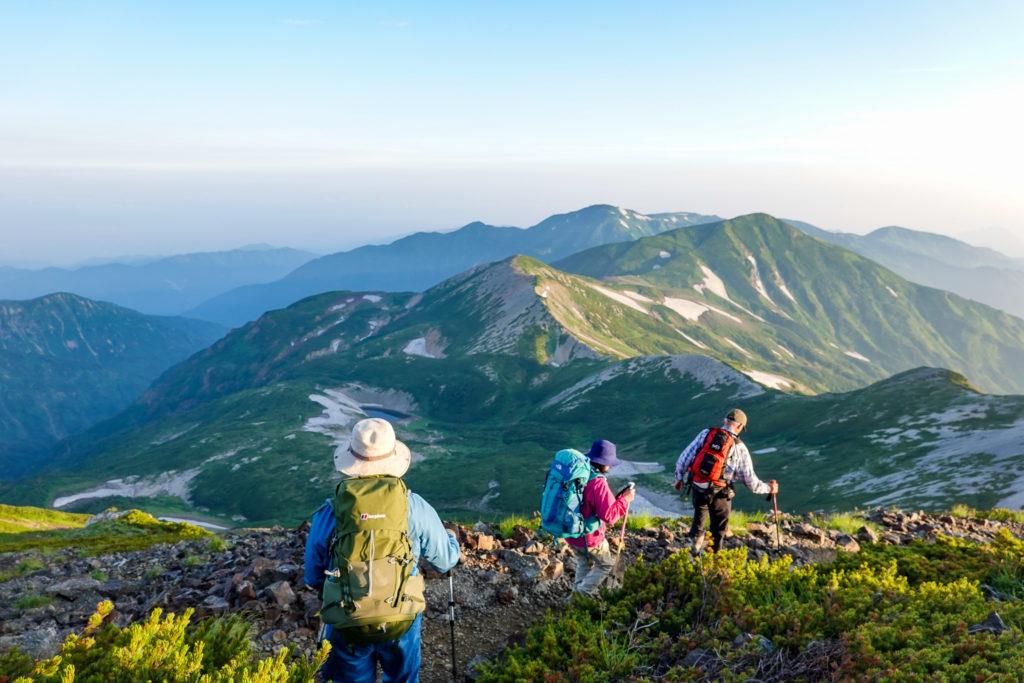 白馬岳・小蓮華山へと至る稜線4