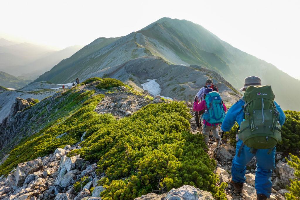 白馬岳・小蓮華山へと至る稜線5