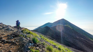 白馬岳から小蓮華山へ