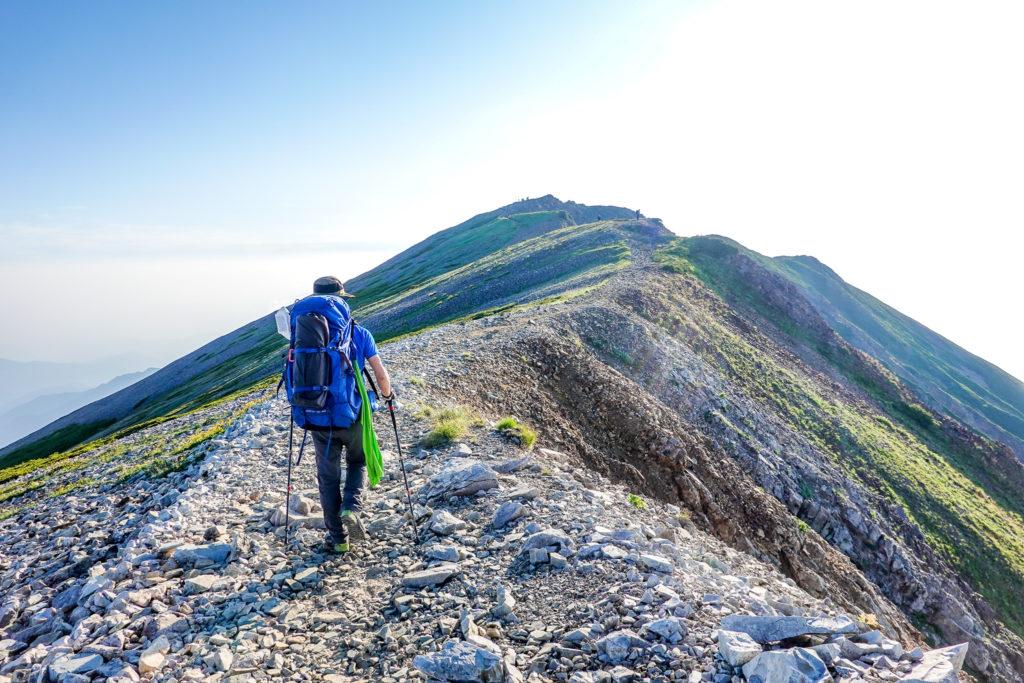 白馬岳・小蓮華山の稜線