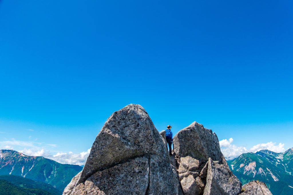 裏銀座・烏帽子岳・烏帽子岳の一番高いところ
