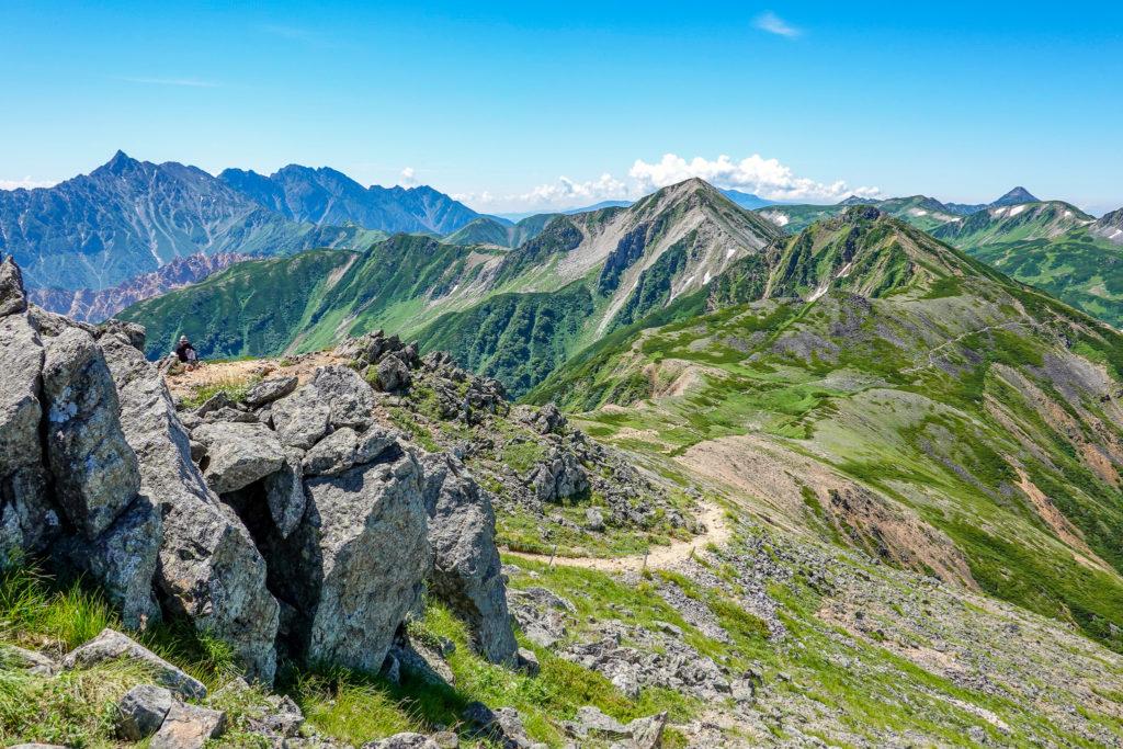 裏銀座・水晶小屋から水晶岳へと至る道