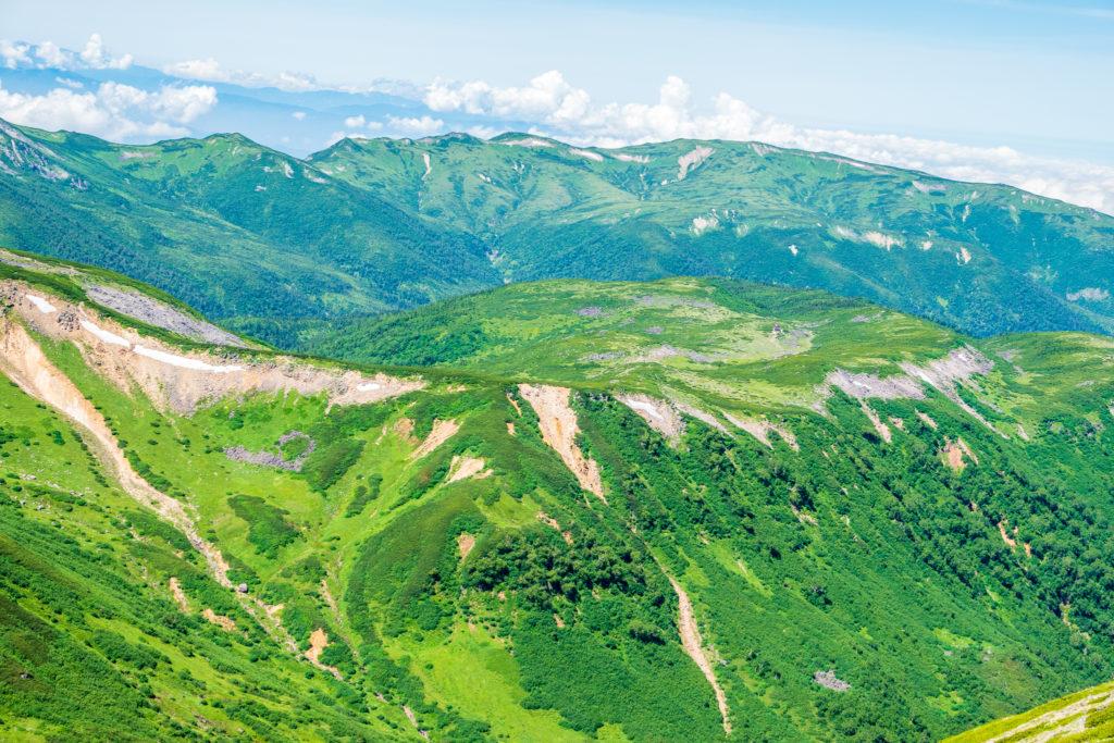 裏銀座・水晶岳からの雲ノ平